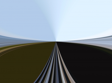 boundless: the road by boundless meadows on background of sky