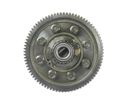 interlink: vehicle metal gear set on white background