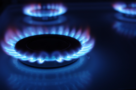 gas cooker with blue fire