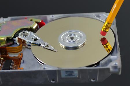 harddisc: symbolic erasing from disc data