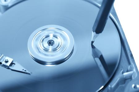 disco duro: registro simbólico de los datos del disco duro Foto de archivo