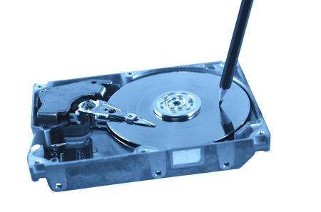 internals: symbolic record of data on hard disc Stock Photo