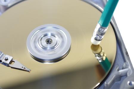 disco duro: borrado simbólica a partir de datos de discos