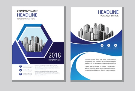 Brochure design, cover modern layout, annual report, poster, flyer in A4 with colorful triangles, geometric shapes for tech, science, market with light background Illustration