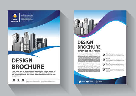 Business abstract vector template. Brochure design, cover modern layout, annual report, poster, flyer in A4 with colorful triangles, geometric shapes for tech, science, market with light background Ilustración de vector