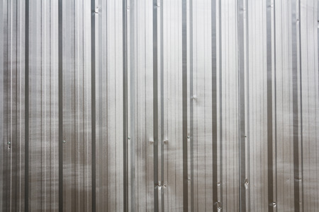 corrugated steel: The zinc wall,background Stock Photo