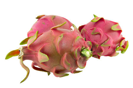 priceless: Dragon fruit isolated on white background Stock Photo