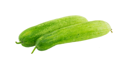 cucumbers: The green cucumbers isolated on white background Stock Photo