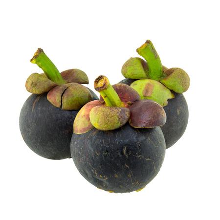 whitebackground: Mangosteen fruit isolated on whitebackground