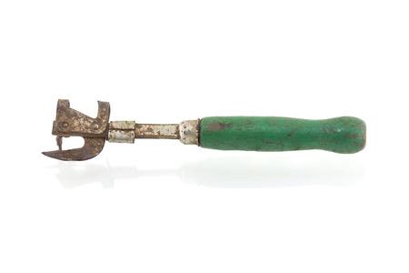 bottle opener: old opener isolated on white background