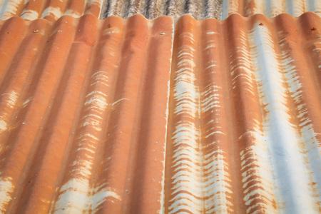 Zinc wall ,rusty Zinc grunge background Stock Photo