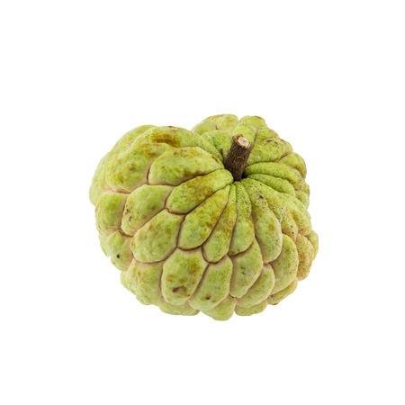 custard apple isolated on white background.
