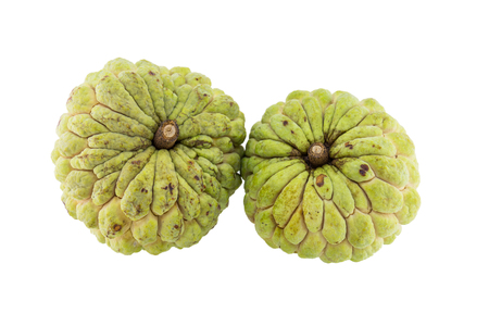 custard apple isolated on white background.