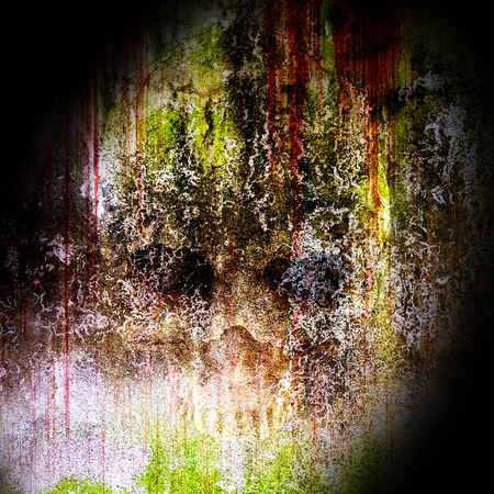 abstract skull in concrete background Stock Photo