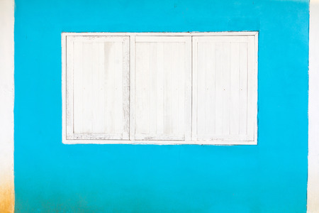 White window on a blue background
