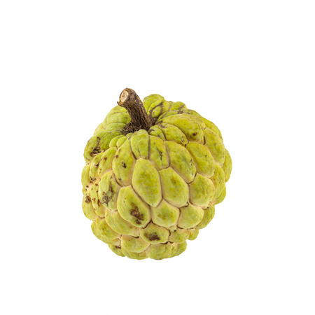 Custard apple isolated on white background.Clipping Path