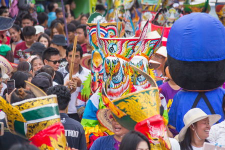 Thailand June 25: Phitakhon festival Phitakhon masks and dance to show festival on june 25 ,2017 in loei province of Thailand Editorial