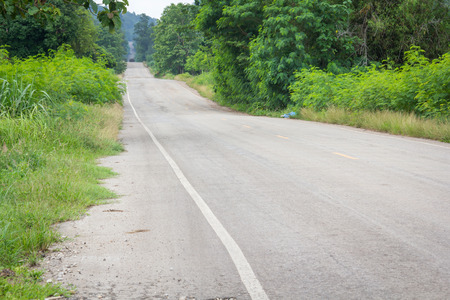 Road in forest Thailand Stock Photo