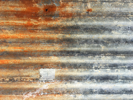 Zinc wall ,rusty Zinc grunge background Reklamní fotografie