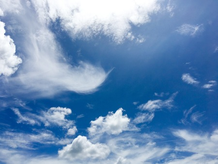 Blue sky with cloud close up