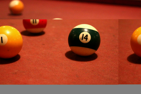 snooker hall: Snooker pool Stock Photo