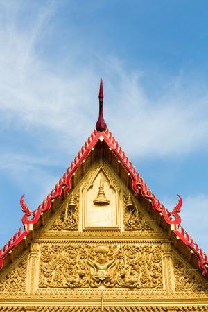 gable: Thai Buddhist temple gable