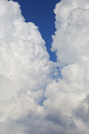 terrific: Sky with clouds as background. Texture thundercloud at close range. Stock Photo