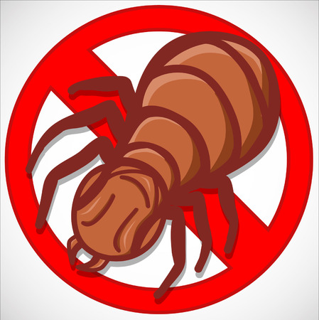exterminate: repellent emblem termites Illustration