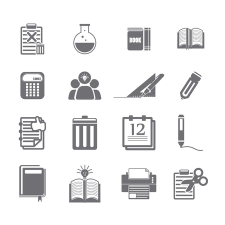 discarded: tools learning  icon set