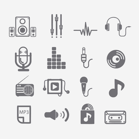audio mixer: Music icon set