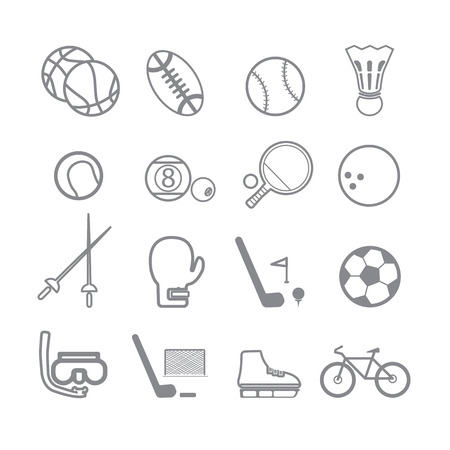 Sports icons line Vector