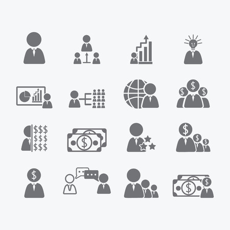 human icons: Business Human icons  Illustration