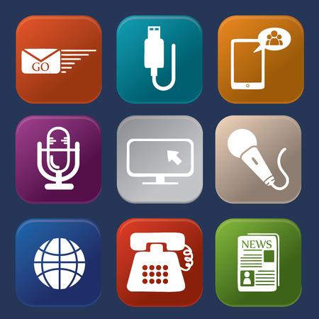 communication icons: Communication icons Illustration