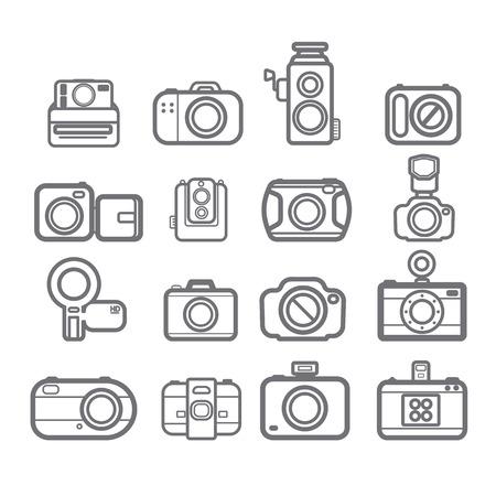 handycam: Camera icons