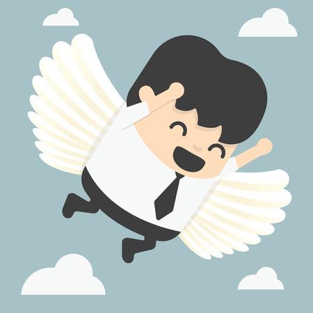 businessman flying freedom Vector