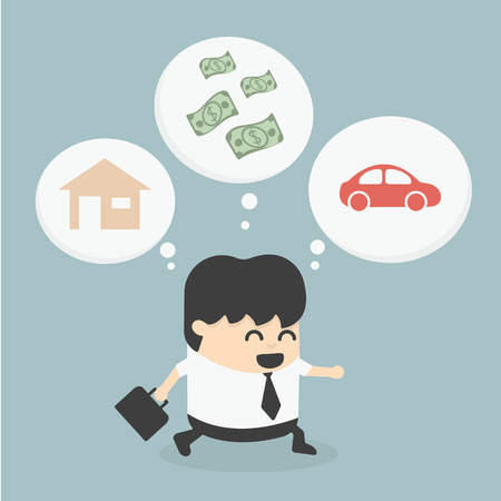 estate planning: Businessman Walking dream
