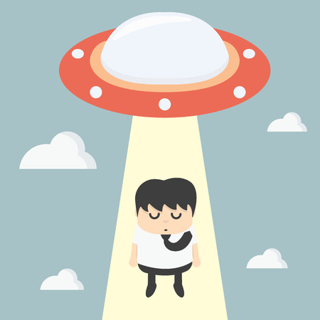 ingenious: ufo choosing worker businessman