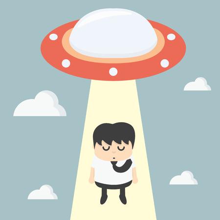forgetful: ufo choosing worker businessman