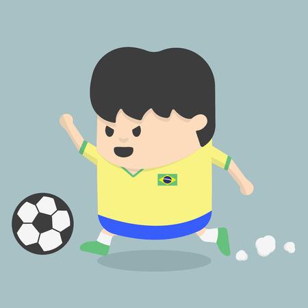 Brazil soccer player Vector