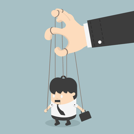 businessmen marionette Vector