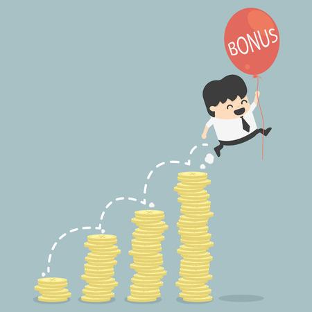 bonus van de zakenman Stock Illustratie