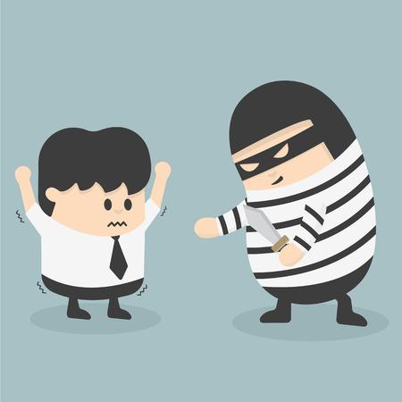 robbing: robbing a businessman