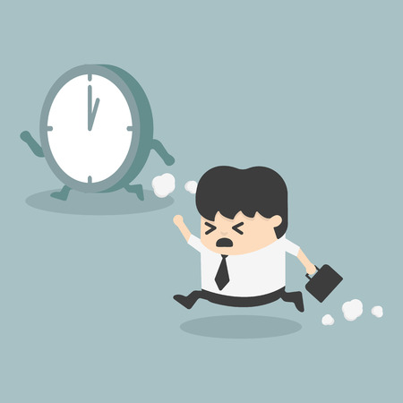 miscarry: The time management  Businessman running
