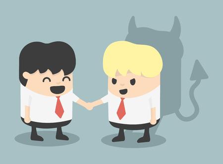 fraudster: Businessman Handshake impostore Vettoriali