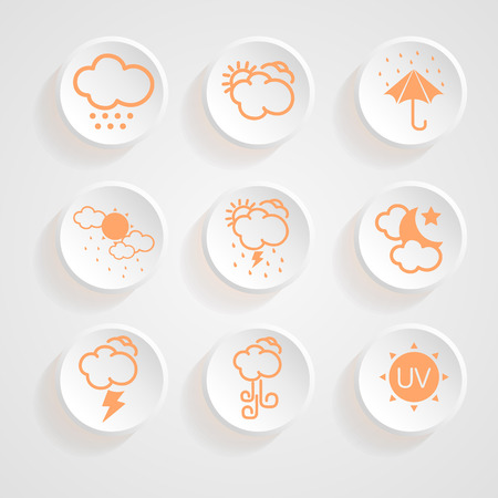 partly: icons weather design  Illustration