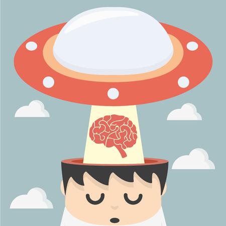 resourceful: man lose idea Illustration