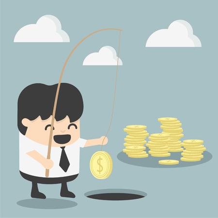 ideas risk: Businessman investment concept Illustration