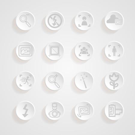 metering: shadows button camera icons set