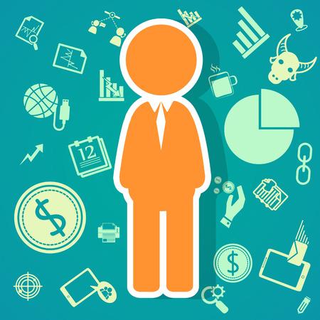 salary man: salary icons  theme