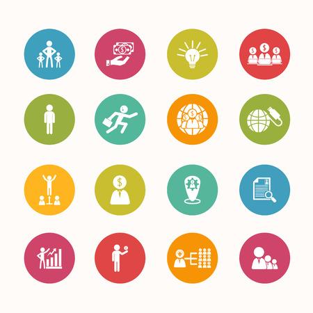 public service: finance icons set Circle Series
